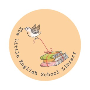 The Little English School Library Logo- grey font