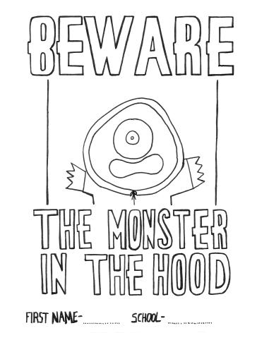 Monster Colouring Sheet